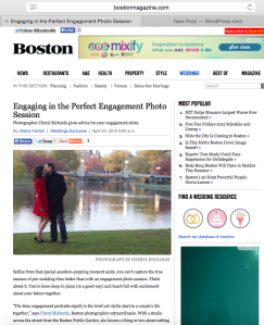 Boston Common Magazine Engagement Shoot